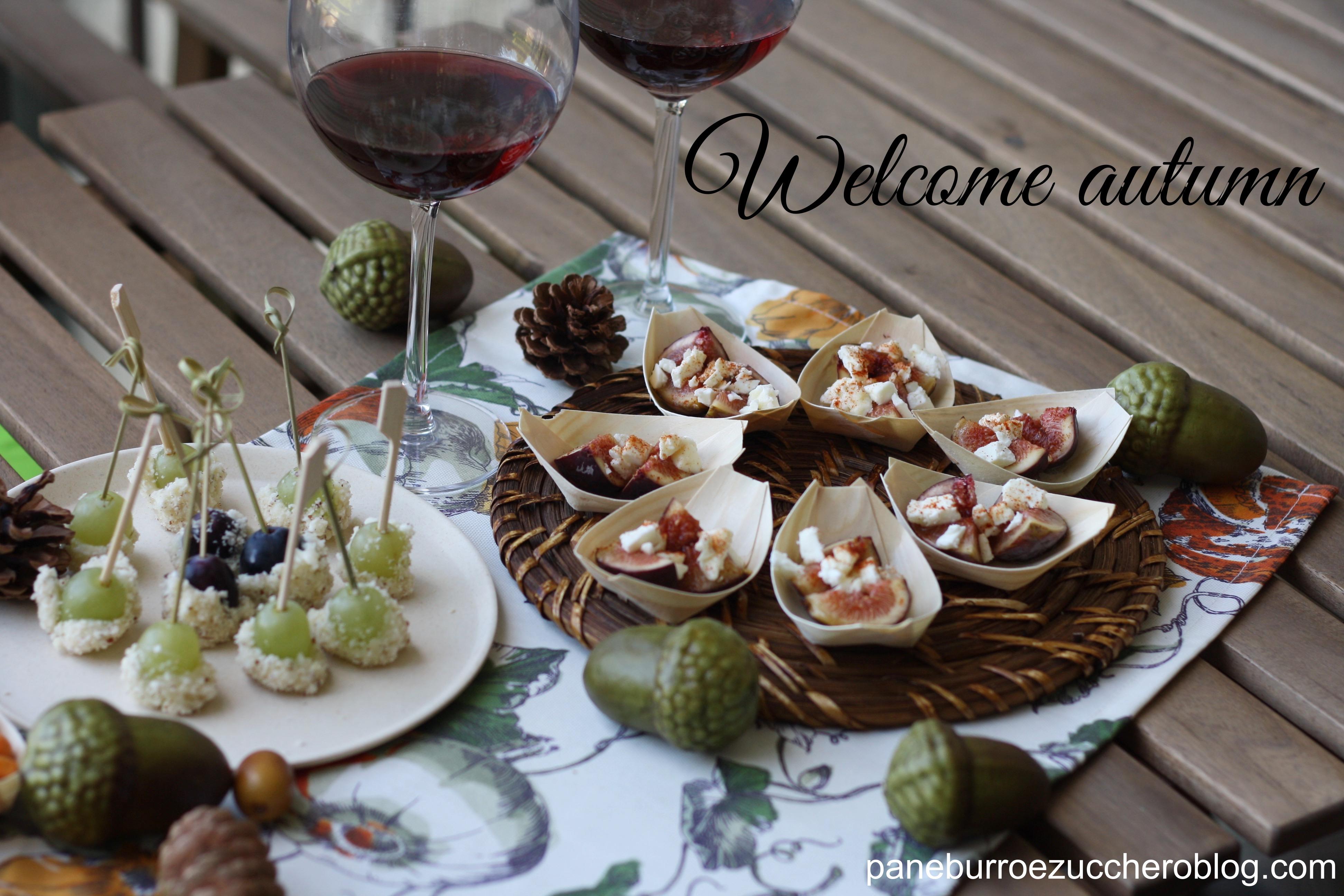 Favoloso Fichi, uva, vino rosso, formaggio, noci….. welcome autumn  KS67