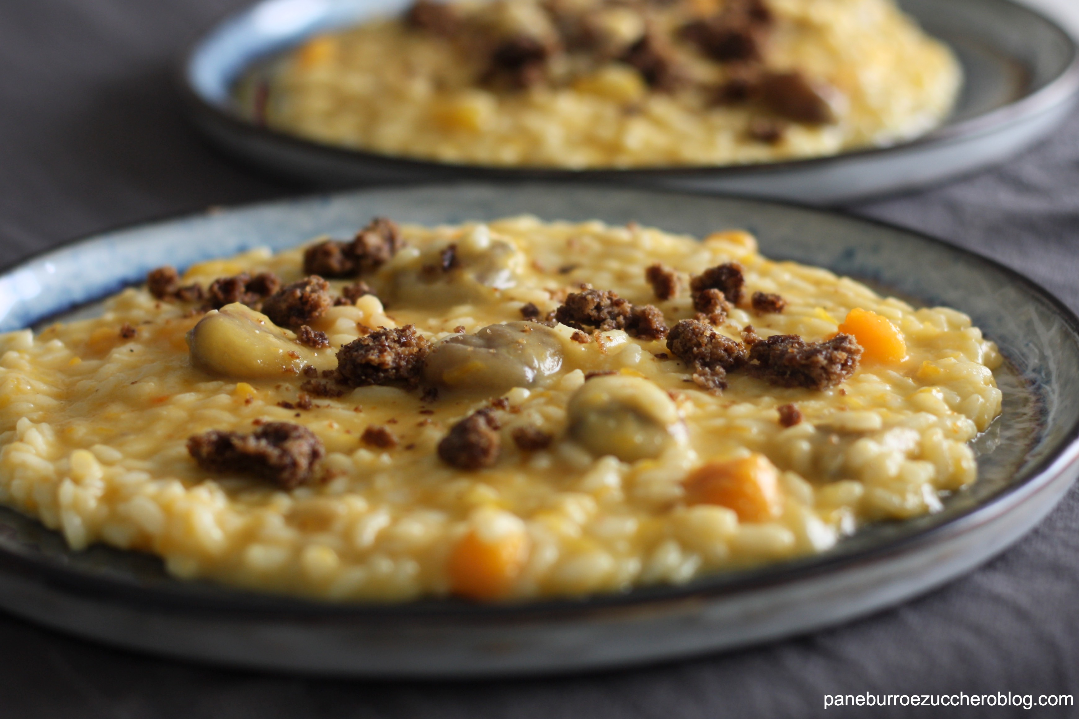 risotto zucca e castagne 2